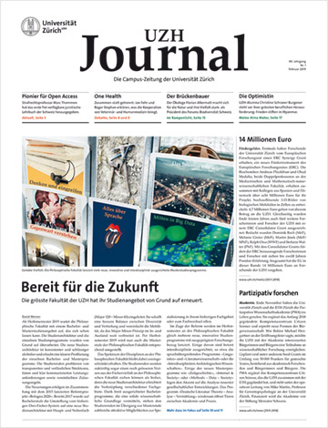 UZH Journal 1/19 (Cover)